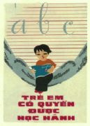Vintage Vietnam Propaganda Poster Children's Rights to Education Act
